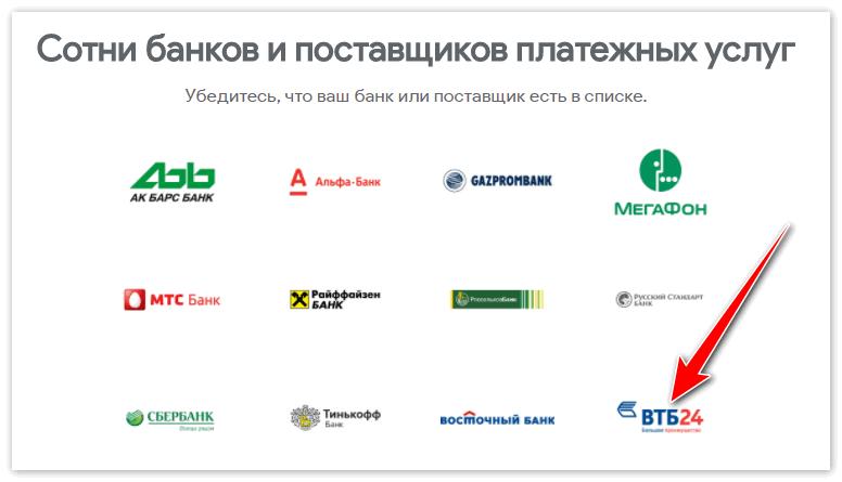 Банки которые сотрудничают с .Android Pay