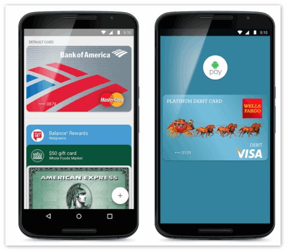 Добавление банковских карт в Android Pay