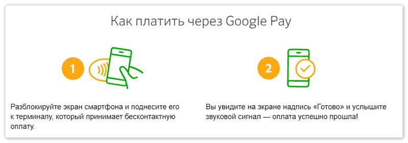 Как платить через Гугл Пей