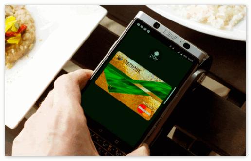 Оплата через Android Pay на телефоне
