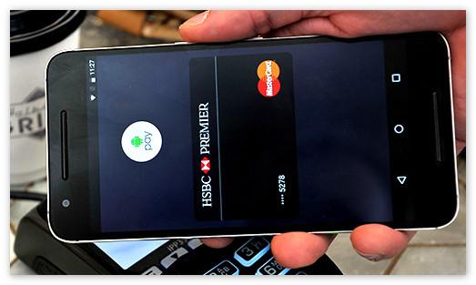 Оплата через приложение Андроид Пей