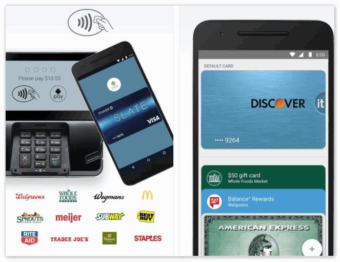 Оплата терминала через приложение Андроид Pay