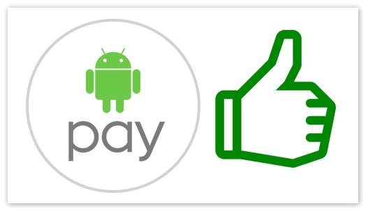 Положительные особенности Андроид Пей