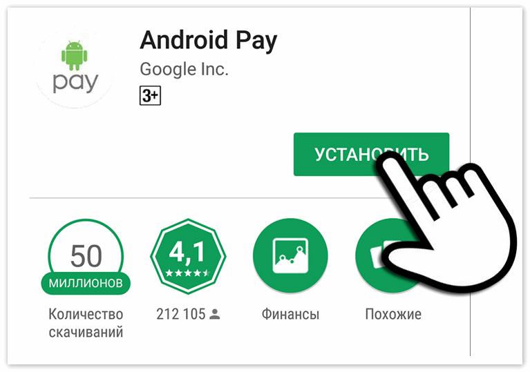 Приложение Андроид Пей