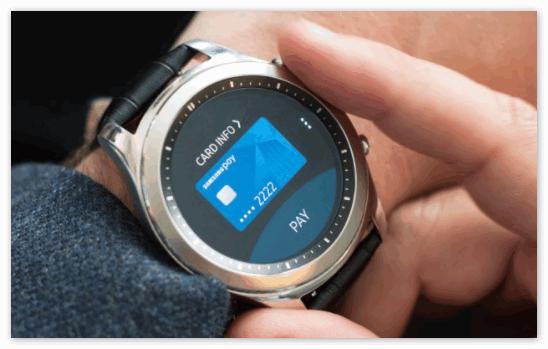 Приложение Samsung Pay в умных часах
