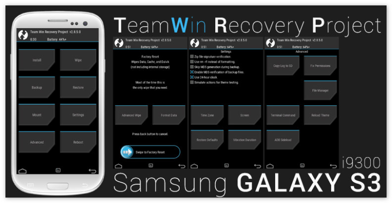 Режим Рекавери в Samsung Galaxy S3