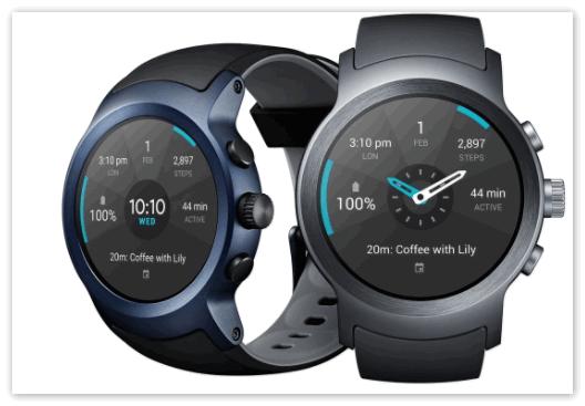 Умные часы 2 LG Watch Sport