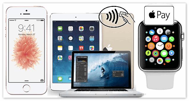 Устройства на которых работает Apple Pay