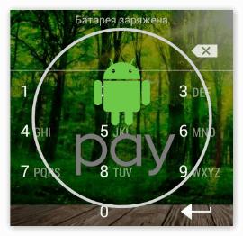 Ввод пин кода при оплате Андроид Пей