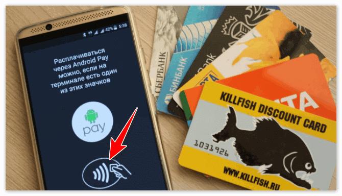 Значок оплаты наличие которого позволяет проводить оплату через Андроид Пей