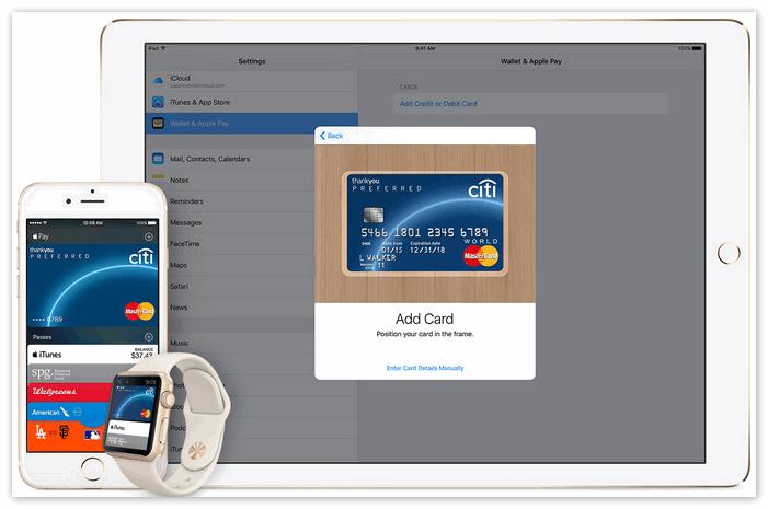 Как добавить карту в Wallet для оплаты с помощью Apple Pay