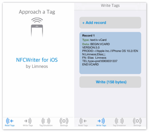 NFC Writer