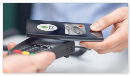 Оплата на кассе через Андроид Пей