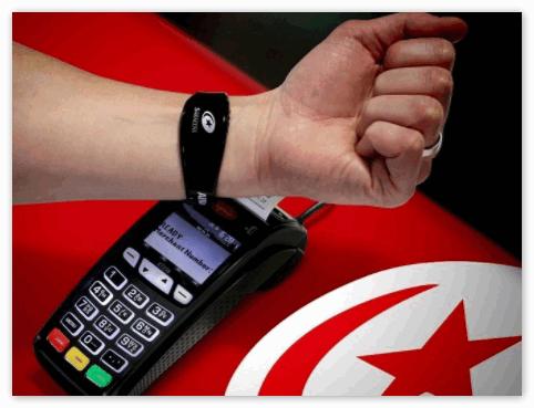 Оплата на кассе через смарт-браслет