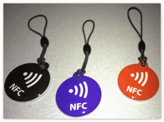 Разноцветные НФС метки