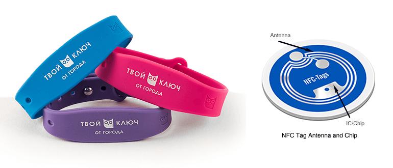 Смарт-браслет с NFC чипом