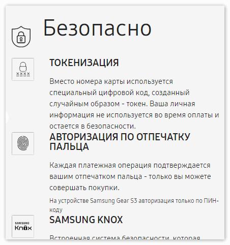 Безопасность в Samsung Pay