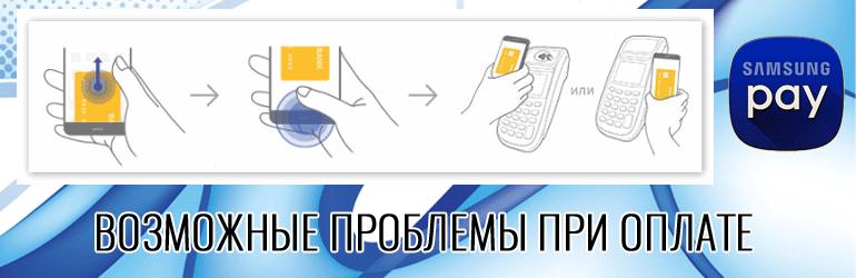 Возможные проблемы при оплате Samsung Pay