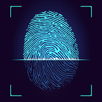 Отпечаток пальца в телефоне