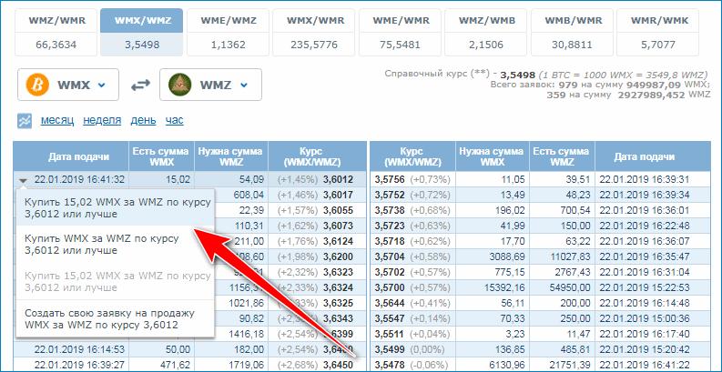 Биржа обмена валюты в Вебмани