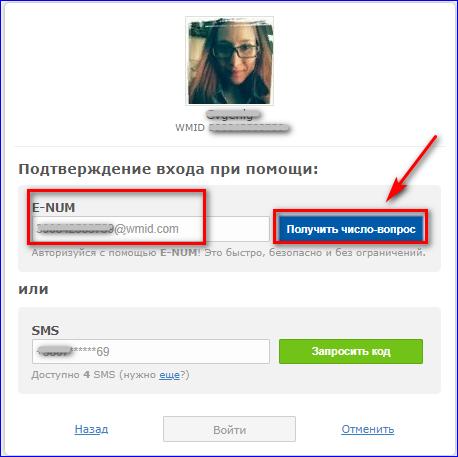 Получить число вопрос в WebMoney