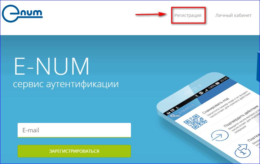 Главная страница сайта E-num