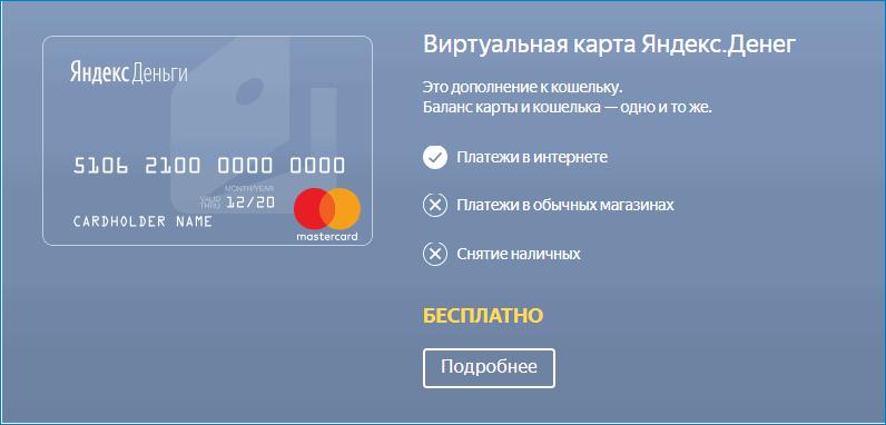 карта яндекс деньги PayPal
