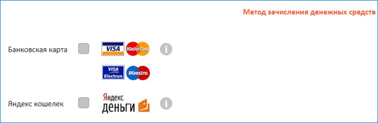 Метод зачисления денежных средств в Вива Деньги