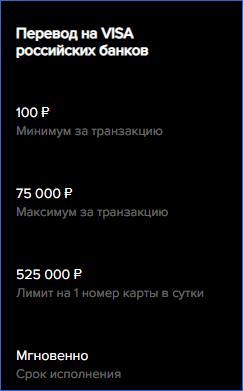 Перевод на банковские карты Payeer