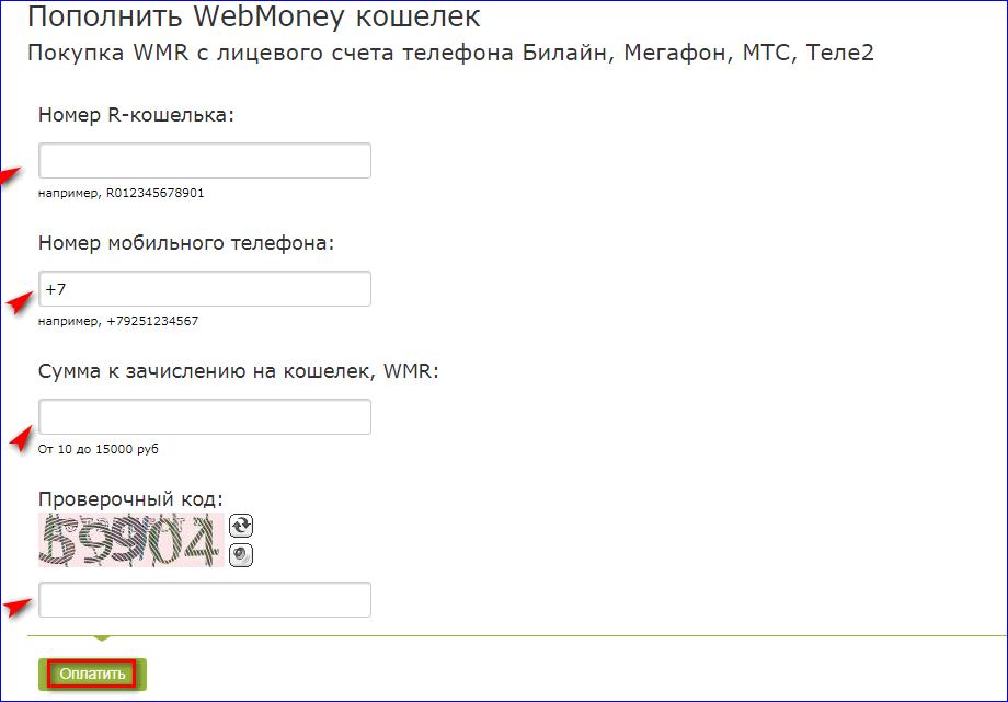 Пополнение кошелька с сайта Вебмани
