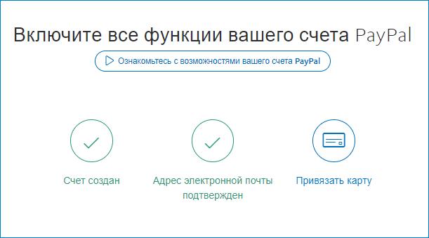 привязка карты Paypal