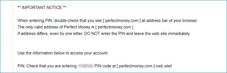 ID для авторизации на сайте perfectmoney