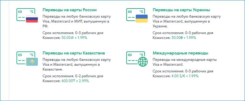 Перевод на банковские карты Адвкеш